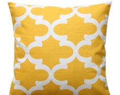 SALE Decorative Pillows- Premier Prints Yellow Fynn Pillow Cover- Choose Size- Zippered Pillow- Home and Living- Moroccan Cushion Cover