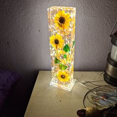 Diy Resin Lamp, Diy Resin Crafts, Wood Resin, Resin Art, Mood Light, Lamp Light, Flower Structure, Fish Lamp, Flower Lamp