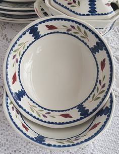 Set of 2 Vintage Adams Real English Ironstone Lancaster Coupe Cereal Bowls…