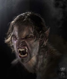 A werewolf not long after he first begins to shapeshift looks a lot like this. It is not cuddly.