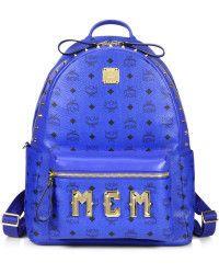 #OF16 - MCM Visetos Stark Monogram Backpack blue - Lyst