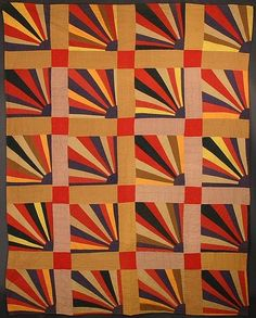 Rising Suns Quilt: Circa 1900; Massachusetts. beautiful design and workwomanship never go out of style.