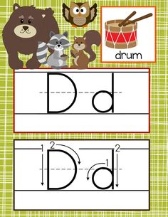 WOODLAND animals Theme Classroom Decor / ABC Cards with illustrations / Handwriting / font: ABC print / JPEGS and PDF / ARTrageous Fun