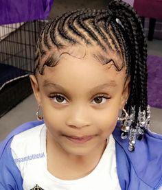 Kids braids 😍 Kids braids 😍 Super braids for kids ponProtective Style Black Kids Braids Hairstyles, Girls Natural Hairstyles, Baby Girl Hairstyles, Natural Hairstyles For Kids, Braids For Black Hair, Girl Haircuts, Natural Hair Styles, Hairstyles Videos, Hairstyles 2018