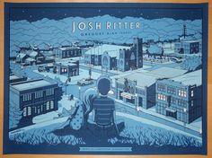 2014 Josh Ritter - Bloomington Concert Poster by Crisler