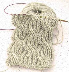 Reversible Cabled Brioche Stitch Scarf pattern by Saralyn Harvey - Stricken - Handarbeiten - Knitting Ideas Knitting Stiches, Free Knitting, Crochet Stitches, Yarn Projects, Knitting Projects, Crochet Projects, Stitch Patterns, Knitting Patterns, Crochet Patterns