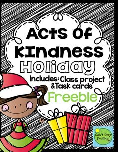 Holiday Act of Kindness Class Project - The December Classroom - Kindness Activities, Christmas Activities, Christmas Ideas, Teaching Kindness, Kindness Projects, Xmas, Mindfulness Activities, Grinch Christmas, Group Activities