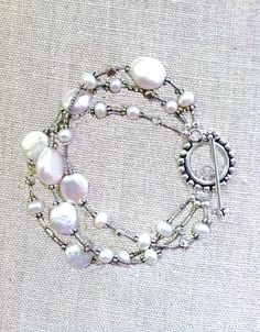 pearl and silver bracelet!