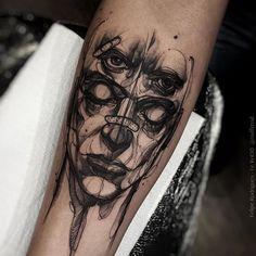 """""""#tattoo#tattooist #tattooed#instatattoo#besttattoos#ink#tattooblack#blackandgraytattoo#Skulltattoo#rotary#tattooart#tattooartist#3dtattoo #dotwork…"""""""