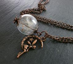 Glasketten - °°Pusteblume Kette °° Kupfer - ein Designerstück von Mirakel1807 bei DaWanda Chain, Jewelry, Copper, Neck Chain, Flowers, Jewels, Schmuck, Jewerly, Jewelery