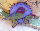 Anna's Hummingbird Brooch