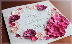 クラフトパンチで母の日カード 第2弾 Safari, Art N Craft, Gift Packaging, Happy Mothers Day, Quilling, Projects To Try, Carving, Rainbow, Paper