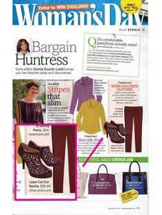 Our Flirty Laser Cutout Bootie in the September issue of Woman's Day!