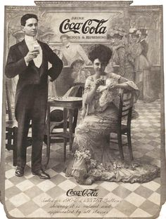 """The old days sure were fancy with their advertisements. """"Drink Coca-Cola, 1904."""""""