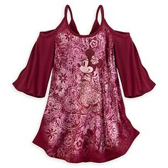 Minnie Mouse Bohemian Top for Women
