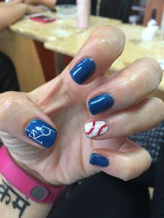 Kc royals baseball nails