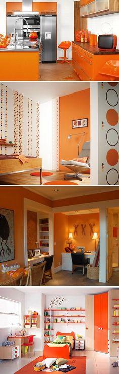Bright Orange Interior Décor To Warm Your Home | Home Decorating Ideas