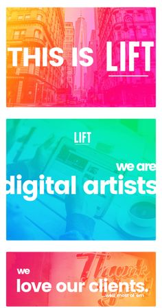 LIFT the Marketing Agency Website Design and Development Digital Website Design, Custom Website Development, Branding, Video, Print, SEO, and Social. The highest level of creative and professional engagement is what our crew brings to the brands we love. Branding, graphic and website design, custom website development, and Search Engine Marketing (SEM) – we are ready to partner with you.