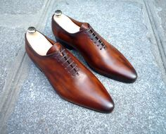 Caulaincourt shoes - One cut 1773 - cognac wood