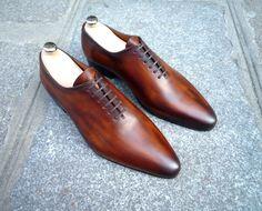 Caulaincourt shoes - One cut 1773 - cognac wood