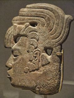 Royal Profile Late Classic Maya Mexico 650-800 CE Sandstone and pigment