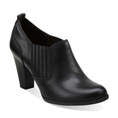 8713554d45 Attitude Pose in Black Leather - Womens Shoes from Clarks Comfortable  Shoes, Clarks, Hand