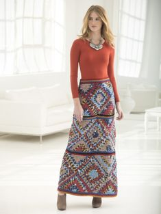 Image of Granny Square Skirt