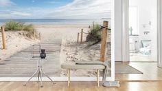 Vlies fotobehang Wandeling op het strand - Strand behang | Muurmode.nl