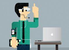 Digital/tech pastor illustration
