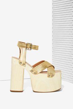 Jeffrey Campbell Boogaloo Leather Platform - Shoes | Sandals | Heels | Flats | Platforms | Jeffrey Campbell