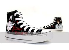 Hand Painted High Top Canvas Sneakers-Vampire Knight Kaname Kuran. $52.99, via Etsy.