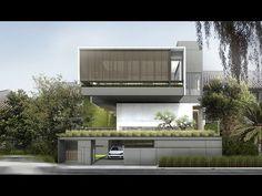 CIASEM HOUSE Minimal Architecture, House Architecture, Contemporary Architecture, Contemporary Design, Render Design, Facade Design, Modern Tropical, Tropical Houses, Building Facade