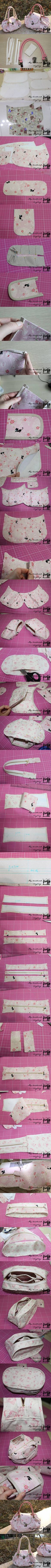 DIY Elegant Fabric Handbag