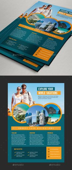 Travel Tourism Flyer 01 Ai Illustrator Flyer Template And Tourism