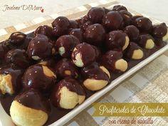 Mamás Latinas en USA // Cocinar,comer y compartir: Profiteroles de Chocolate con crema de vainilla