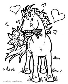 free horse coloring pages for kids pony color page horse color page animal - Color Book For Kids