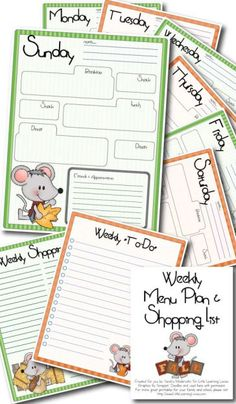 Are you looking for a free menu planner? Then do we have a post from you.....