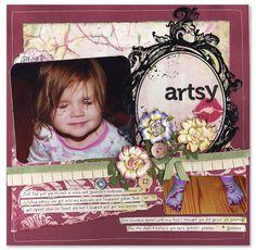 Artsy! - Scrapbook.com - #scrapbooking #layouts