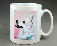 Eskimo Dog Mug Coffee Tea Cocoa Ceramic cup of by RMBArtStudio