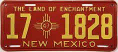 *Notice the number inside the Zia symbol is 47, which is the year date - 1947. The number on the left of the license denotes the city. Back then the #1 was for Santa Fe because it is the state capital and #2 was for Albuquerque because it had the largest population (& still does). I don't remember what city #17 represented. {kh}
