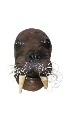Latex Walrus Animals Party Mask