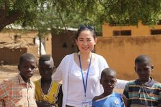 Dr Betty Sim Kim Lee is seen with local children while working on clinical trials in Doneguebougou, Mali. — Pictures courtesy of Betty Sim Kim Lee