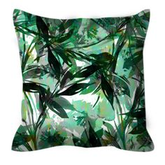 FLORAL FIESTA GREEN Flowers Pattern Suede Decorative Throw Pillow Cover by EbiEmporium, #Christmas #homedecor #xmasdecor #pillow #cushion #cushioncover #mint #green #colorful #flowers #floral #floralpattern #botanical #watercolor #abstract #suede #summer #leaves
