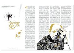 Angelo Art Magazine - Page Layout by Karen Gahafer, via Behance