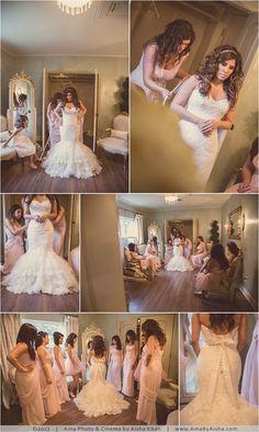 ©2013 | www.AmaByAisha.com | Houston Wedding @Madera Estates | Getting ready with bridesmaids