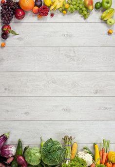 Wooden background fruits and vegetables Food Background Wallpapers, Food Wallpaper, Food Backgrounds, Background Images, Wooden Background, Fruits And Vegetables Images, Different Fruits And Vegetables, Fond Design, Legume Bio