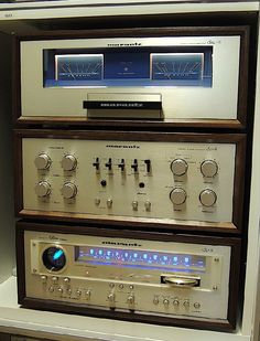 Vintage Marantz SM-8 stereo amplifier, SC-8 preamp and ST-8 tuner.