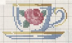 SOESQUEMAS Cross Stitch Kitchen, Mini Cross Stitch, Cross Stitch Cards, Cross Stitching, Cross Stitch Embroidery, Hand Embroidery, Cross Stitch Designs, Cross Stitch Patterns, Beading Patterns