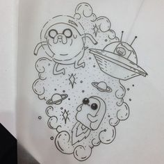 adventure time - A R T - Doodle Art Drawing, Dark Art Drawings, Art Drawings Sketches, Tattoo Drawings, Cute Drawings, Pencil Art Drawings, Drawing Ideas, Adventure Time Tattoo, Adventure Time Drawings