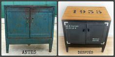 DIY Mueble Auxiliar | Bricolaje Painted Furniture, Diy Furniture, Woodworking Basics, Home Trends, Hacks Diy, Country Chic, Chalk Paint, Locker Storage, Ikea